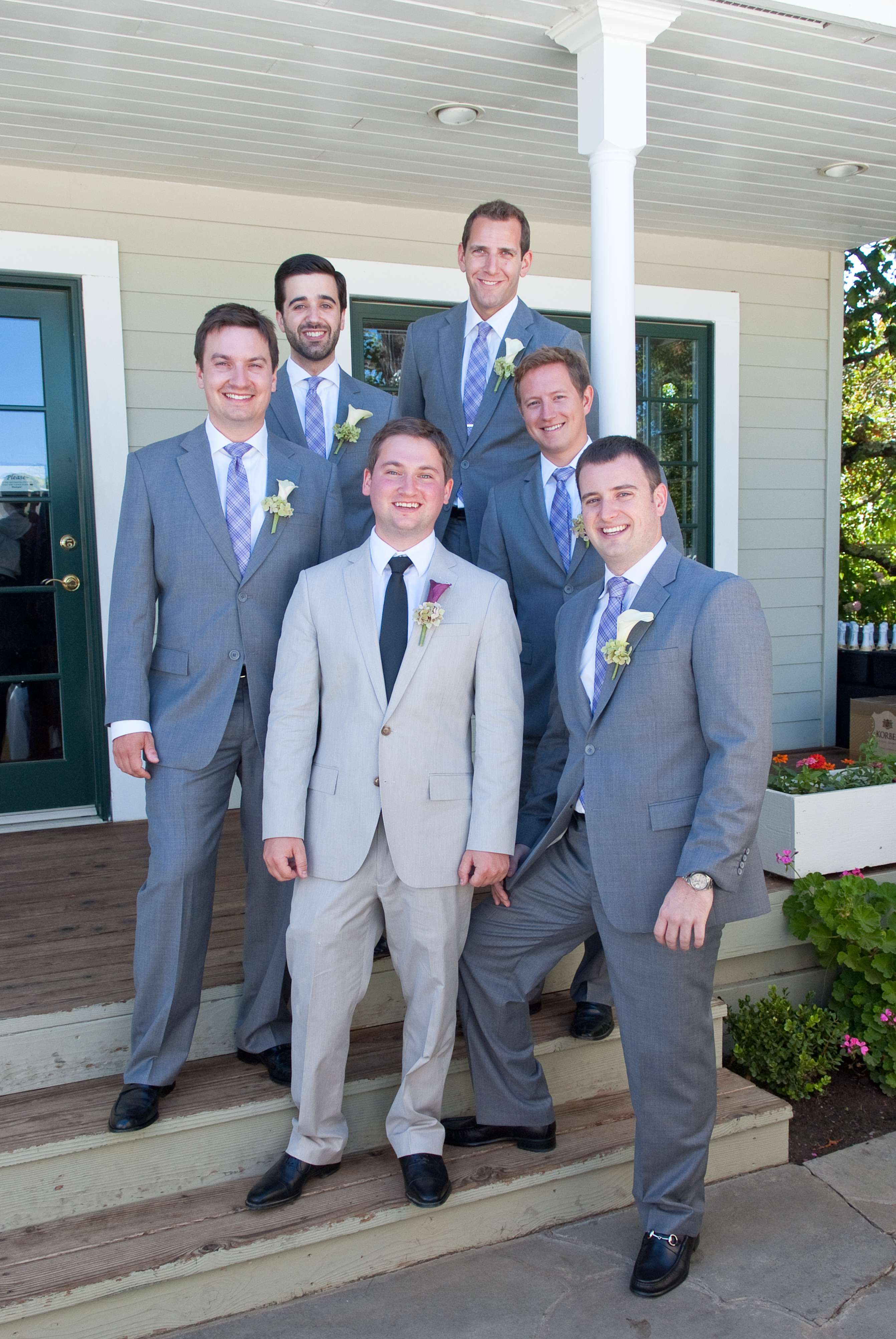 Blue Grey Suit Wedding - Suit La